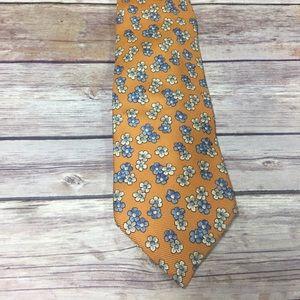 Men's Faconnable floral light orange tie